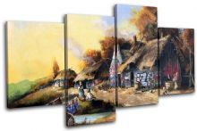 Graffiti Cottage Banksy Painting - 13-1021(00B)-MP04-LO